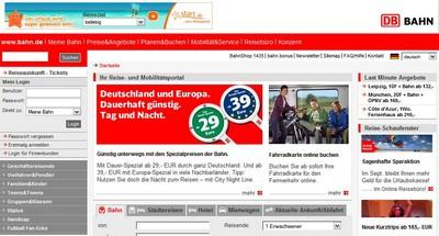 Portal Deutsche Bahn